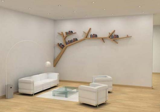 Tree Branch Bookshelf from Olivier Dolle 1 Beautify your wall decor with Tree Branch Bookshelf from Olivier Dolle