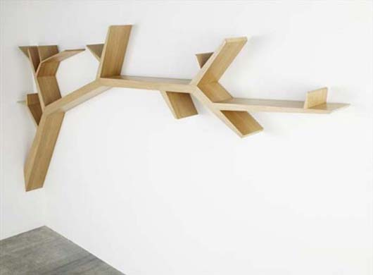 Tree Branch Bookshelf from Olivier Dolle 2 Beautify your wall decor with Tree Branch Bookshelf from Olivier Dolle