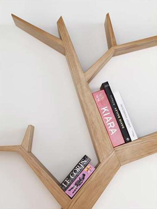 Beautify your wall decor with Tree Branch Bookshelf from Olivier Dolle