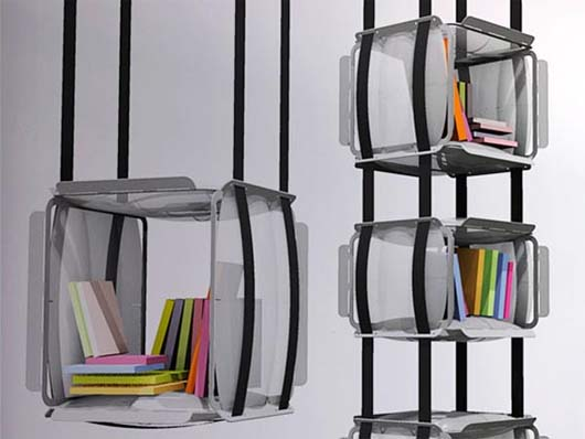 Upside Down Bookcase Design by Adrien De Melo 3 Hanging Bookcase Design by Adrien De Melo   Upside Down