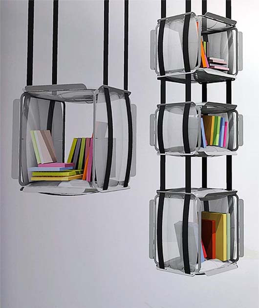 Upside Down Bookcase Design by Adrien De Melo 4 Hanging Bookcase Design by Adrien De Melo   Upside Down