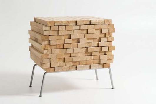 Wooden Heap by Boris Dennler 1 Wooden Heap unique hidden storage by Switzerland designer Boris Dennler
