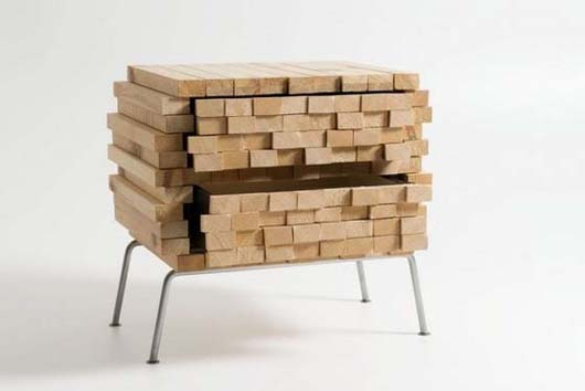 Wooden Heap by Boris Dennler 2 Wooden Heap unique hidden storage by Switzerland designer Boris Dennler