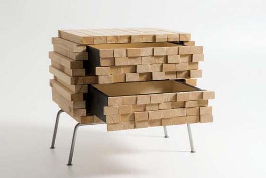 Wooden Heap by Boris Dennler 3 Wooden Heap unique hidden storage by Switzerland designer Boris Dennler