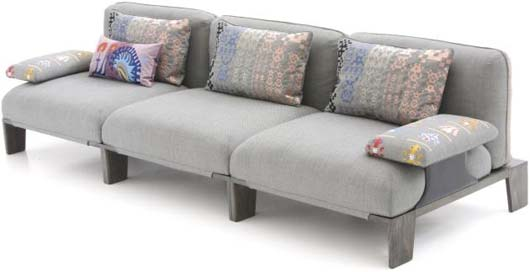 Fergana sofa with large sofa cushions