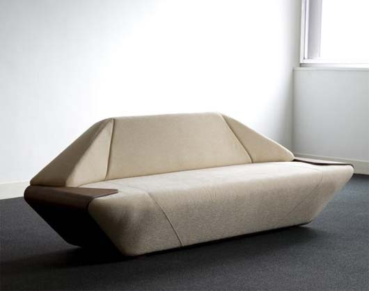 Hex Sofa by Nosigner 1 Hex Sofa with side table on the edge by Nosigner