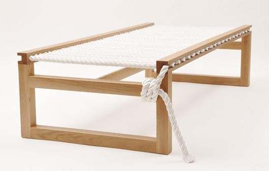 Lauren Outdoor Indoor Daybed Furniture by Bruce Marsh 1 Outdoor Indoor Daybed Furniture with soft nylon rope   Lauren Daybed