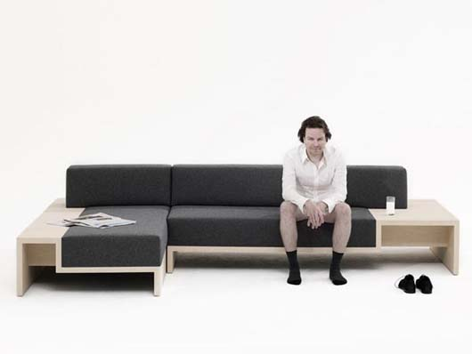 Slow Sofa by Frederik Roijé 1 Modular Daybed Sofa in Kitchen or Living Room   Slow Sofa