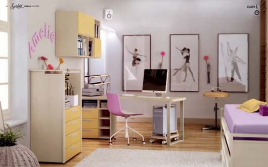 Dance Themed Teenager's Room from Carre 3 4 sets teen bedroom theme from Carre