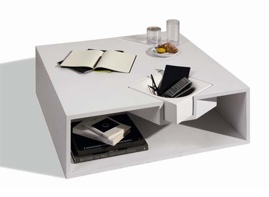 Dent Coffee Table with Storage form Nendo 1 Dent Coffee Table with Storage form Nendo