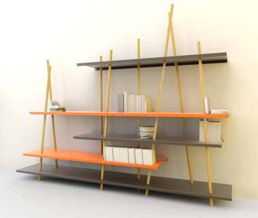 Unique shelving system