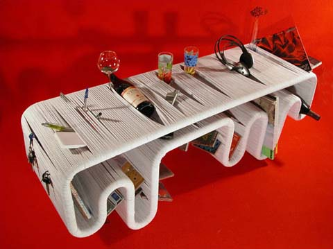 Inflow table by Animi Causa 1 Table to ease you store something   Inflow table