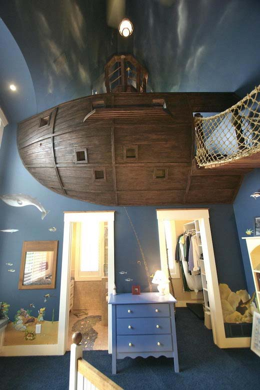 Pirate kids bedroom decor by Steve Kuhl