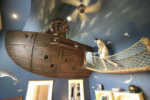 Pirate kids bedroom decor by Steve Kuhl 2 Pirate kids bedroom decor by Steve Kuhl