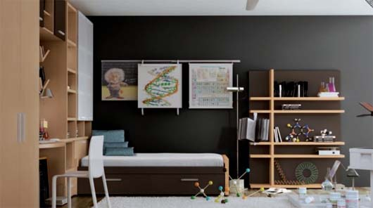 Scientist Genius Themed Teenager's Room from Carre 10 4 sets teen bedroom theme from Carre