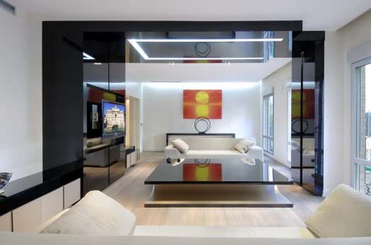 apartment interior design by A Cero 1 Apartment interior redesign in Madrid by A Cero
