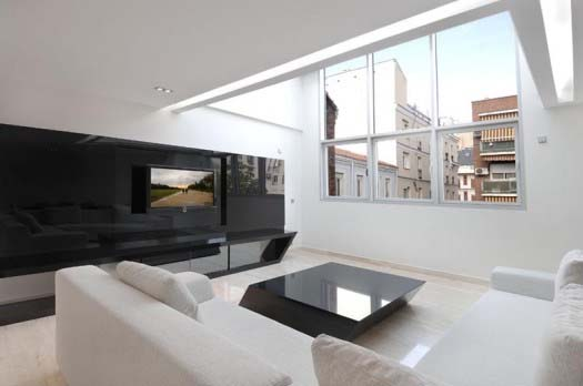 apartment interior design by A Cero 4 Apartment interior redesign in Madrid by A Cero