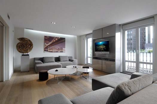 apartment interior design by A Cero 5 Apartment interior redesign in Madrid by A Cero