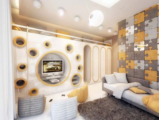 Geometrix design 2 children room decoration with amazing wall paneling