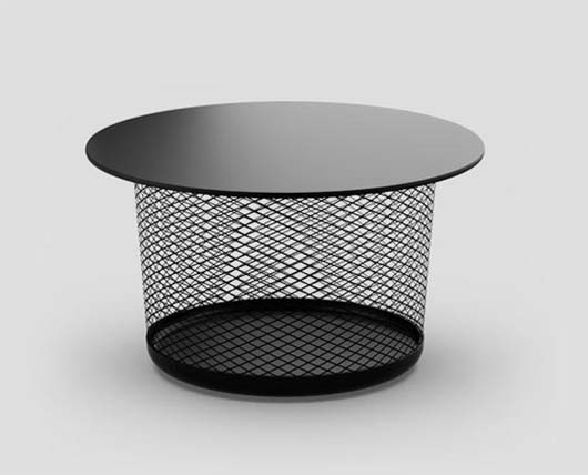 Mesh table from Established Sons 1 Mesh table for coffee or side table