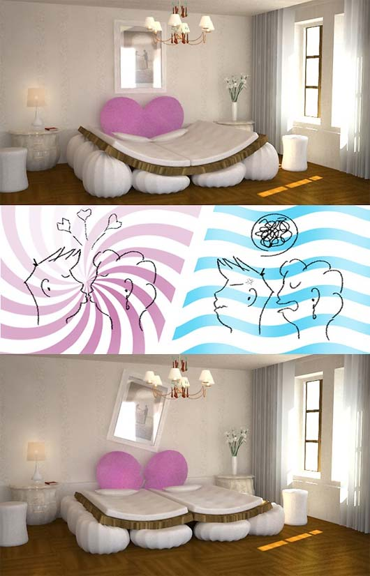 Cute Bed Design By Hyun Seok Kim