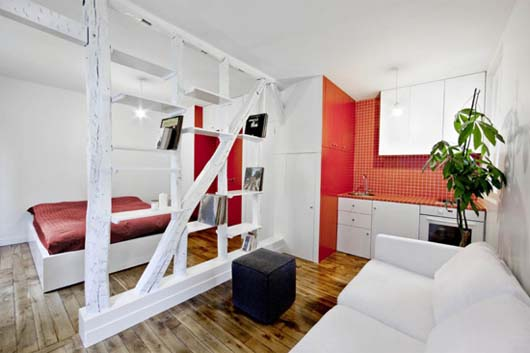 Montmartre Apartment by SWAN Architects 1 Smart apartment designs to get more spacious room