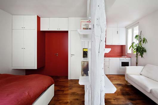 Montmartre Apartment by SWAN Architects 2 Smart apartment designs to get more spacious room
