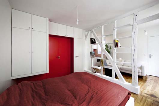 Montmartre Apartment by SWAN Architects 3 Smart apartment designs to get more spacious room