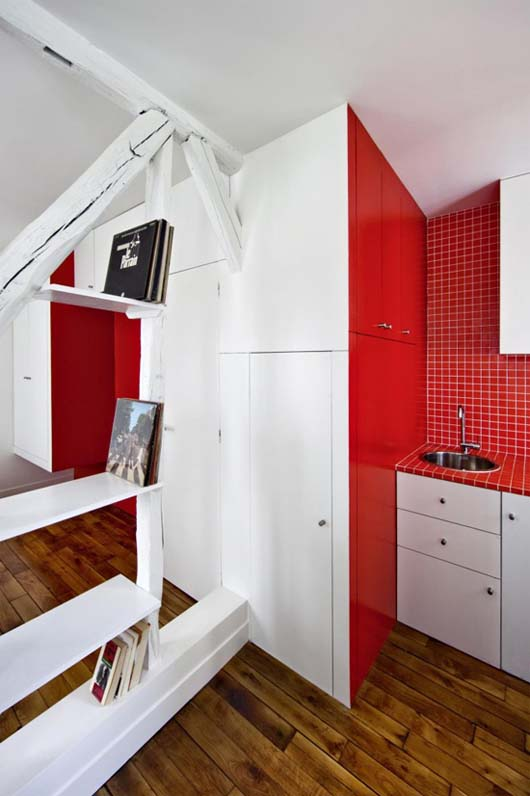Montmartre Apartment by SWAN Architects 4 Smart apartment designs to get more spacious room
