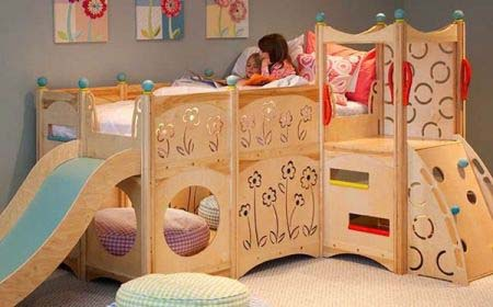 Rhapsody Children's Beds CedarWorks 4 Childs bed as well as a playground area