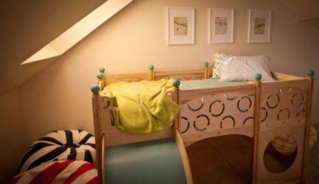 Rhapsody Children's Beds CedarWorks 6 Childs bed as well as a playground area