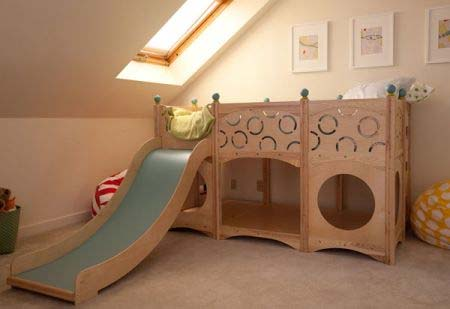 Rhapsody Children's Beds CedarWorks 8 Childs bed as well as a playground area