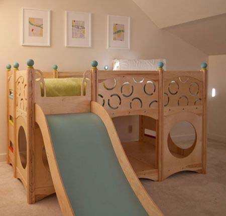 Rhapsody Children's Beds CedarWorks 9 Childs bed as well as a playground area