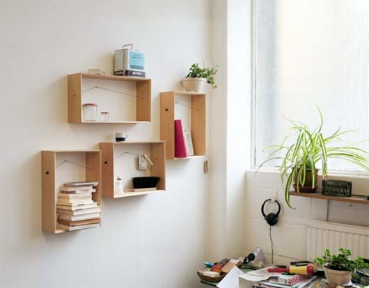 Shelframe by Bahbak Hashemi Nezhad Make Your Wall Interesting to See Using Shellframe