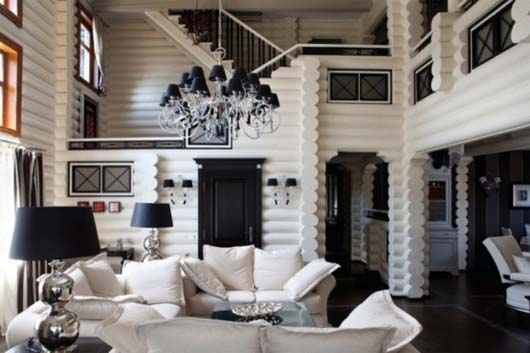 Black White Interior Decor by Yulian Chaplinsky 2 Classic Interior with Black and White Excellent Combination