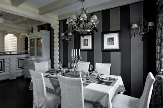 Black White Interior Decor by Yulian Chaplinsky 3 Classic Interior with Black and White Excellent Combination