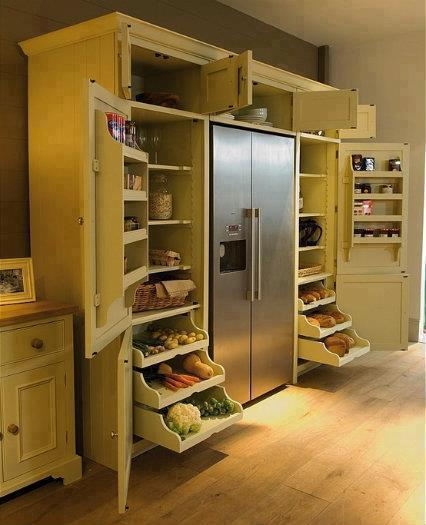 Built In Kitchen Pantry Ideas