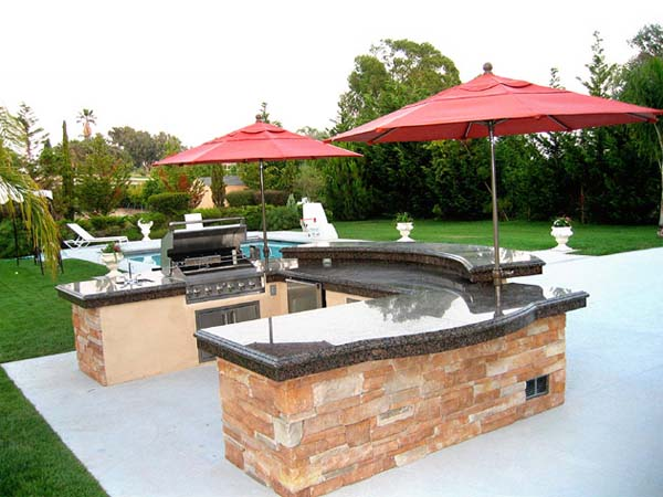 backyard designs with pool and outdoor kitchen outdoor kitchen design for barbeques or whatever you like 9706